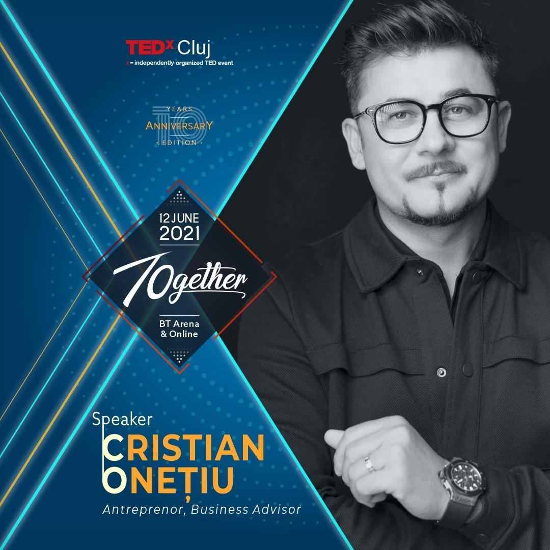 Cristian Onetiu speaker TEDxCluj 2021